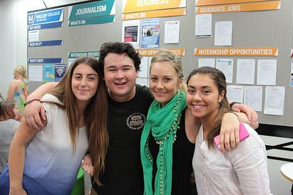 Ali Cheevers (2nd from right) is heading to the UK on our Journalism Scholarship