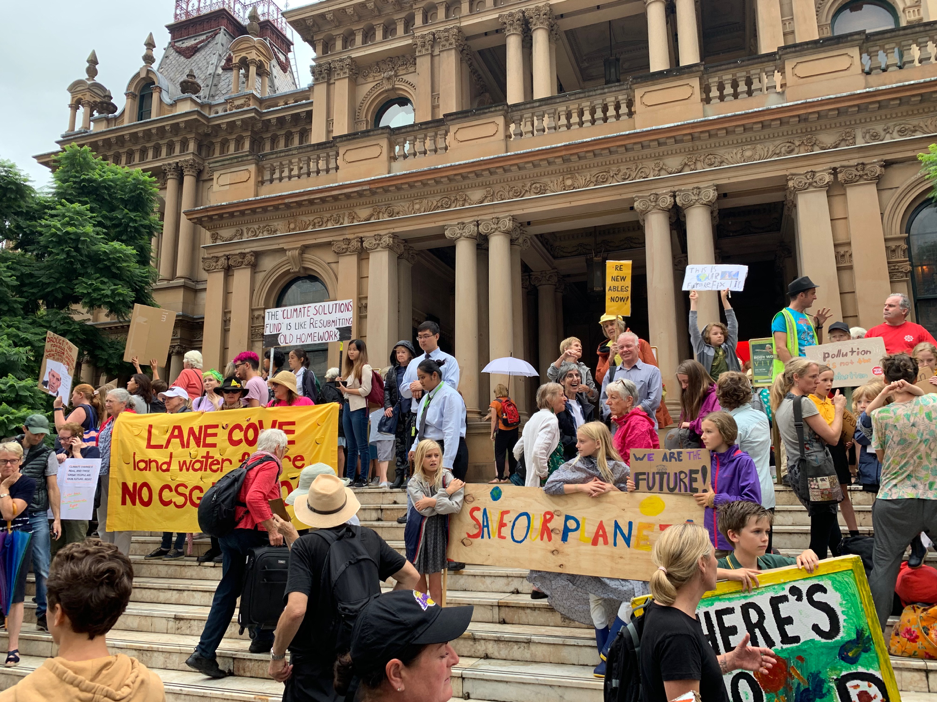 Sydney's #Strike4ClimateChange march, March 15, photo by reporter.